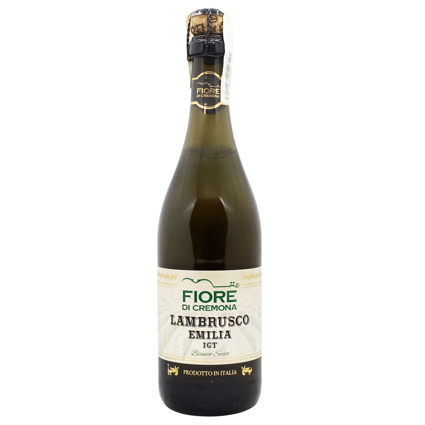Вино игристое Fiore di Cremona Lambrusco белое сухое 10,5% 0,75л