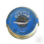 Икра осетровая Caviar Malossol стеклянная банка 50г