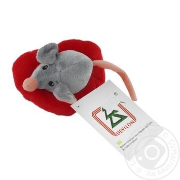 Игрушка мягкая Devilon Мышка с сердечком
