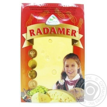 Сыр Spomlek Радамер твердый нарезанный 45% 150г - купить, цены на Novus - фото 3