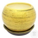 Ball Gloss Golden Black Flowerpot 0,4l