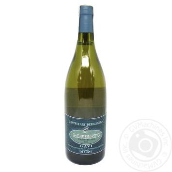 Вино Castellari Bergaglio Gavi di Gavi Rovereto біле сухе  13% 0,75л - купити, ціни на МегаМаркет - фото 1