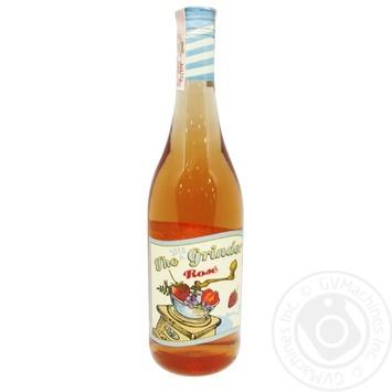 Вино The Grinder Rose розовое сухое 12,7% 0,75л - купить, цены на СитиМаркет - фото 1
