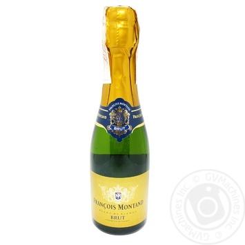 Вино игристое Francois Montand Blanc de Blanc Brut белое сухое 12% 0,2л