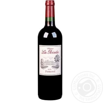 Вино La Pointe Pomerol Chateau красное сухое 14.5% 0,75л