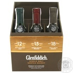 Виски Glenfiddich 12, 15, 18 лет 3шт 0,2л набор