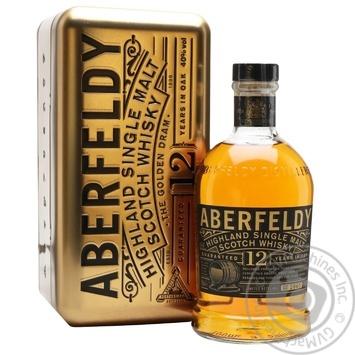 Виски Aberfeldy Gold Bar 12 лет 0,7л в коробке