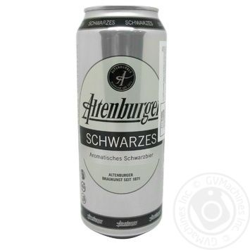 Пиво ABG Schwarze темное 4,9% 0,5л