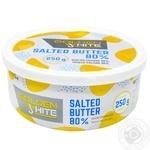 Масло Golden White сливочное соленое 80% 250г