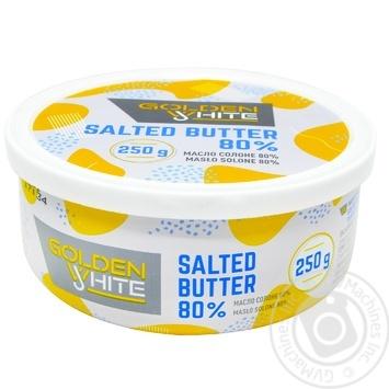Масло Golden White вершкове солоне 80% 250г - купити, ціни на Восторг - фото 2