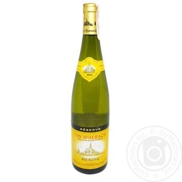 Hunawihr Riesling white dry wine 13% 0,75l - buy, prices for CityMarket - photo 1