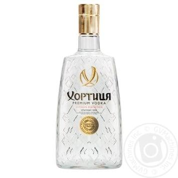 Горілка Хортиця Преміум 40% 0,7л - купити, ціни на Ашан - фото 1