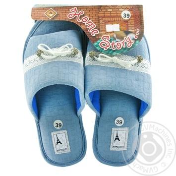 Обувь домашняя Home Story женская р.36-41 в ассортименте - купить, цены на МегаМаркет - фото 3