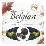 Цукерки The Belgian Морські мушлі з чорного шоколаду 250г