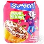 Сухие завтраки Start! подушечки с начинкой с ароматом карамели 500г