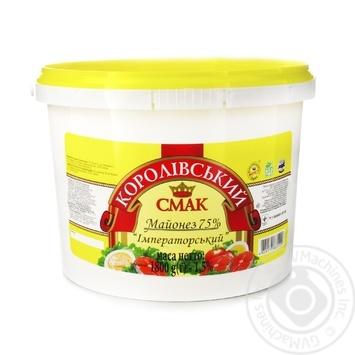 Майонез Королевский вкус 75% ведро 1,8кг