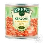 Veres Canned beans in tomato sauce iron jar 400g