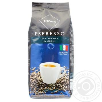 Кофе Rioba Espresso натуральный в зернах 1000г - купить, цены на Метро - фото 1