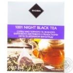 Смесь чая Rioba 1001 Night черного и зеленого байхового листового с лепестками цветов и ароматом винограда в пирамидках 15*3г