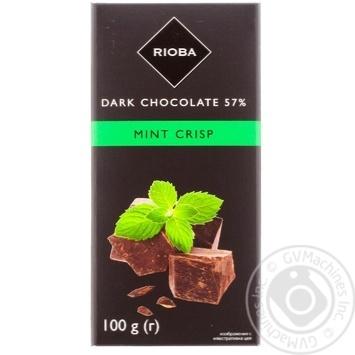 Шоколад Rioba мята 100г