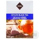 Чай Rioba черный байховый цейлонский листовой в пакетиках-пирамидках 15*3г