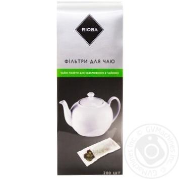 Фильтры Rioba к чаю 75х185мм 200шт - купить, цены на Метро - фото 1
