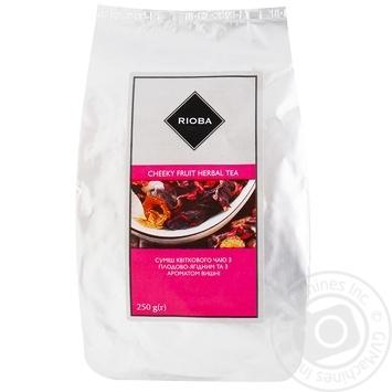Чай Rioba Нахабний Фрукт квітковий з плодово-ягідним чаєм та ароматом вишні 250г - купити, ціни на Метро - фото 1