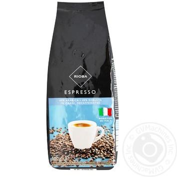 Кофе Rioba Espresso без кофеина в зернах 500г