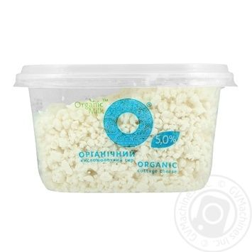 Organic milk cottage cheese 5% 300g - buy, prices for MegaMarket - image 1