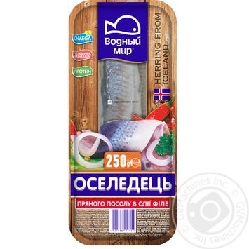 Сельдь Водный мир филе пряного посола в масле 250г - купить, цены на Метро - фото 2