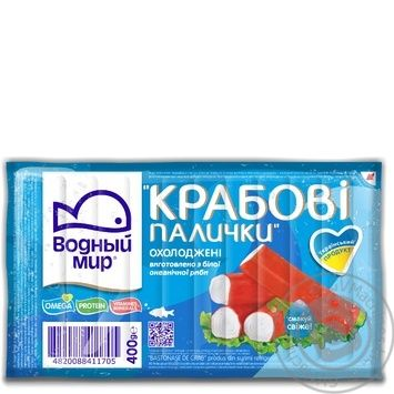 Крабовые палочки Водный мир охлажденные 400г - купить, цены на Novus - фото 3