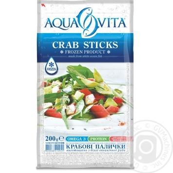 Крабовые палочки Aqua Vita замороженные 200г - купить, цены на Ашан - фото 1