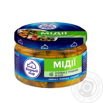 М'ясо мідій Водный мир в олії з травами 200г - купити, ціни на Novus - фото 1