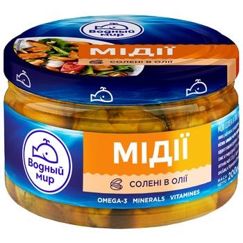 Мясо мидии Водный Мир в масле 200г - купить, цены на СитиМаркет - фото 1