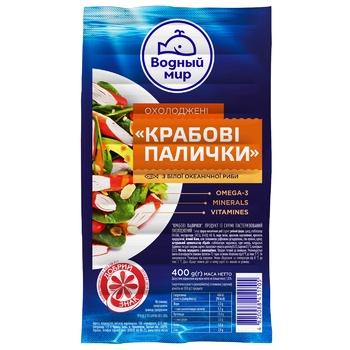 Vodnyi Mir Chilled Crab Sticks 400g - buy, prices for CityMarket - photo 1