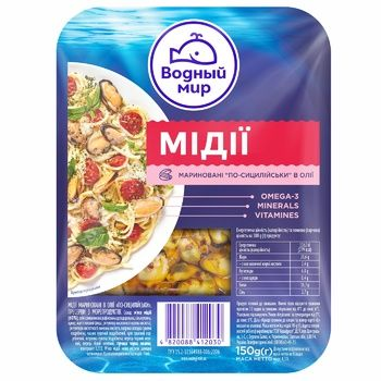 Vodnyi Mir Pickled Mussles 150g - buy, prices for CityMarket - photo 1
