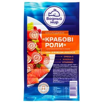 Vodniy Myr Chilled Crab Rolls from Surimi with Crab Meat 200g