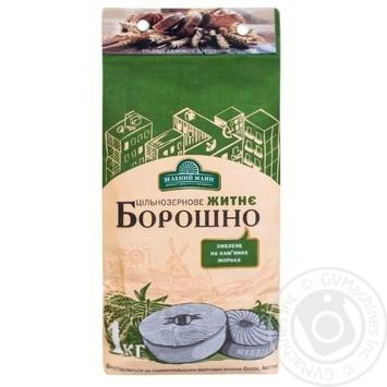 Flour Zelenyi mlyn rye 1000g - buy, prices for MegaMarket - image 1