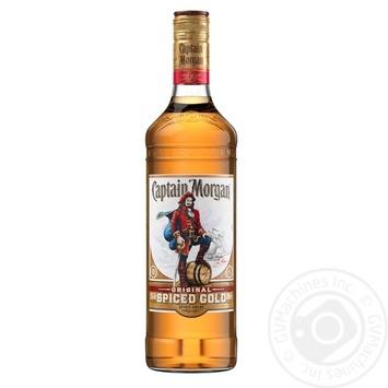 Ромовый напиток на основе Captain Morgan Spiced Gold 35% 0,5л - купить, цены на Novus - фото 1