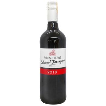 Вино Рибопьер Каберне Совиньон красное виноградное сухое 13% 0,75л в ассортименте