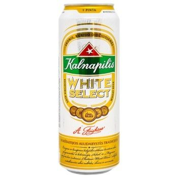 Kalnapilis White Select Beer light unfiltered pasteurized 5% 0,568l - buy, prices for CityMarket - photo 1