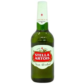 Пиво Stella Artois светлое безалкогольное 0,5% 0,5л - купить, цены на СитиМаркет - фото 1