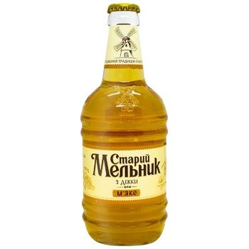 Пиво Старый Мельник из бочонка Мягкое светлое фильтрованное 4,2% 0,45л