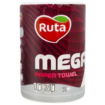 Полотенце бумажное Ruta Mega двухслойное 1шт - купить, цены на УльтраМаркет - фото 1