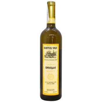 Вино Kartuli Vazi Цинандали белое сухое 12% 0,75л