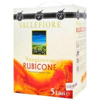 Вино Vallefiore Sangiovese Rubicone красное сухое 11% 5л