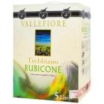 Вино Vallefiore Trebbiano Rubicone біле сухе 11% 5л