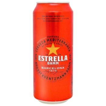 Estrella Damm Barcelona Light Beer 4,6% 0,5l - buy, prices for UltraMarket - photo 1