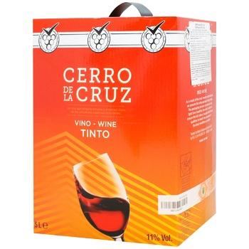 Вино Cerro de la Cruz Tinto Seco червоне сухе 11% 5л