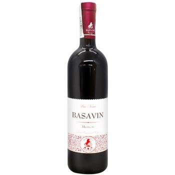 Вино Basavin Сильвер Мерло красное полусладкое 12% 0,75л